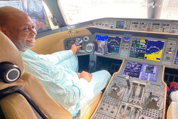 davido dad private jet