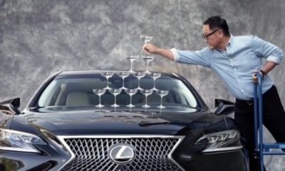 lexus-loads-champagne-glasses-bonnet-ls-500