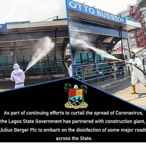 Lagos State Government & Julius Berger Disinfect Major Roads in Lagos autojosh