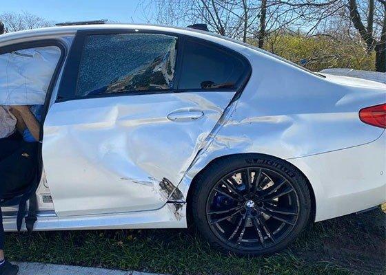 2020 BMW M5 Crashed Minutes After Leaving The Dealership