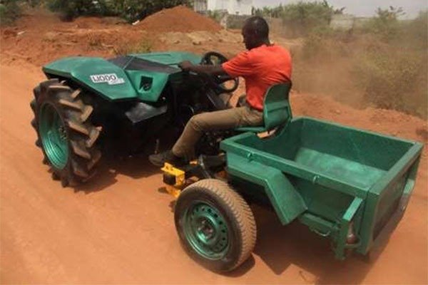 See As A Nigerian Fabricated Affordable Tractors For Farmers