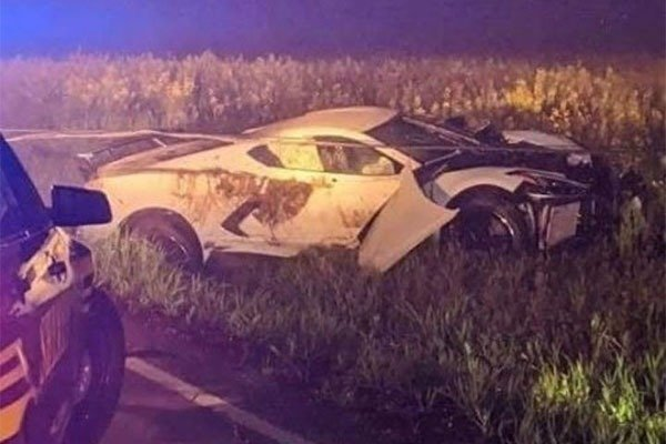 2020 Chevrolet Corvette Seen Abandoned In Mysterious Accident