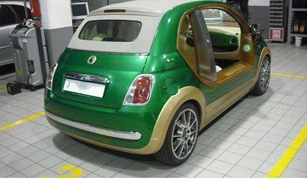 Muammar Gaddafi's Electric Car Fiat 500 Castagna autojosh