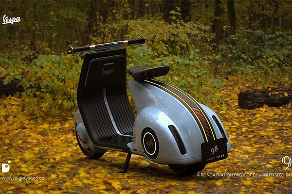 The Popular Vespa Is Reborn As An Electric Scooter