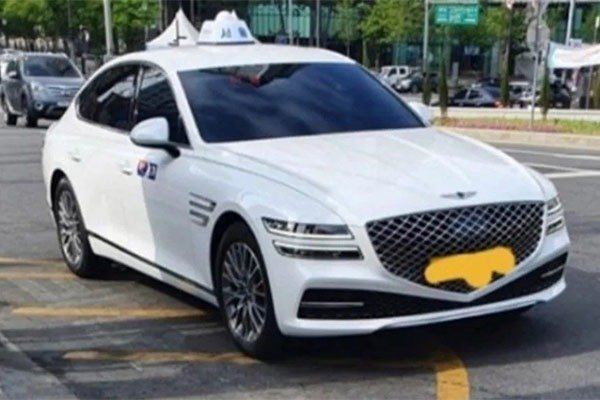 Spotted: 2021 Genesis G80 Used A Taxi In South Korea