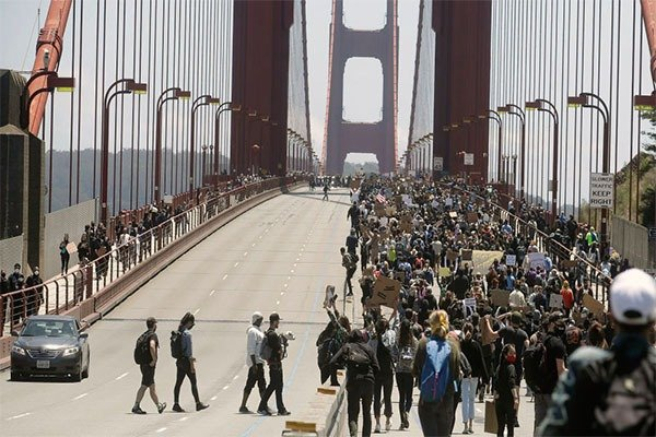 Famous Golden Gate Bridge Shut Down By George Floyd Protesters