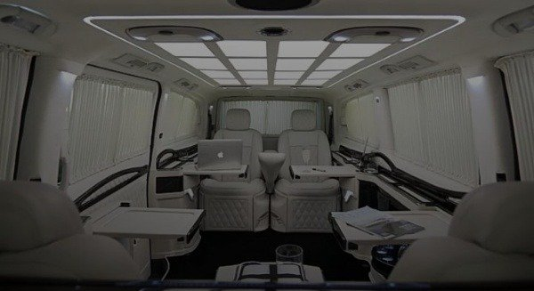 klassen-stretched-mercedes-v-class-van-private-jet