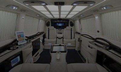klassen-stretched-mercedes-v-class-van-private-jet