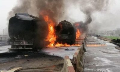 massive-gridlock-after-three-fully-loaded-fuel-tankers-exploded-on-lagos-ibadan-expressway