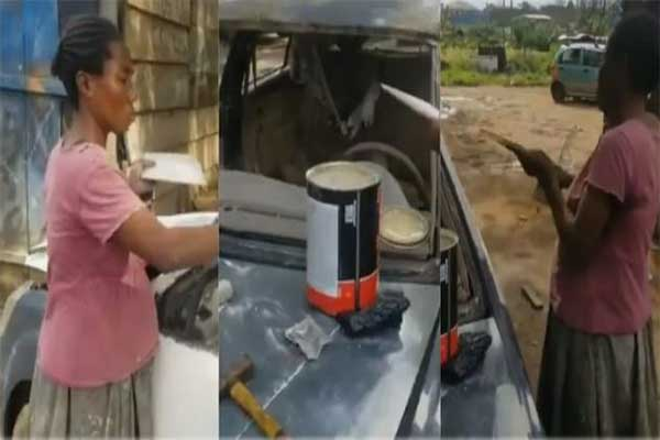 Meet A Pregnant Who Woman Sprays And Repairs Cars For A Living