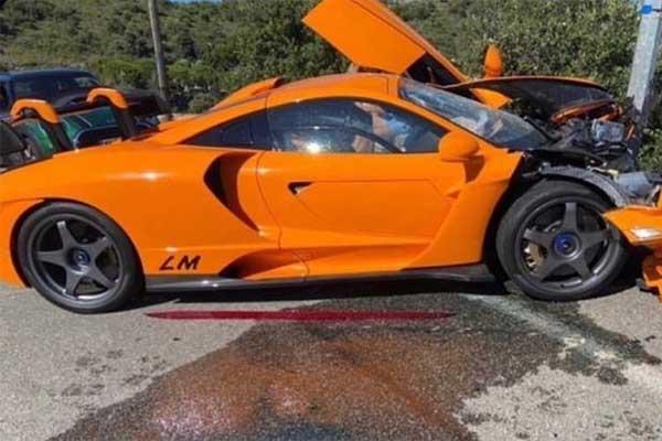 One Of 20 Rare McLaren Senna LM Crashes In Monaco