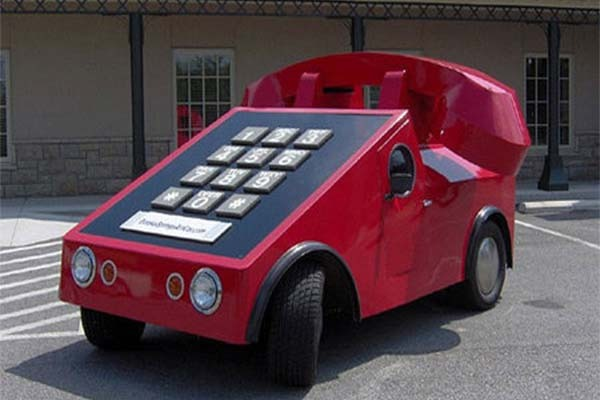 Wow! This Strange Telephone Car Is Actually A VW Beetle