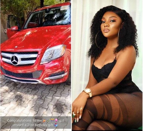 Former Nigerian Beauty Queen, Ruby Uche Flaunts Her Mercedes-Benz GLK Birthday Gift