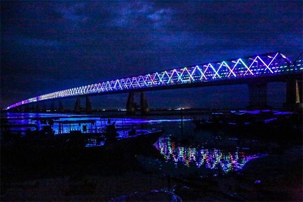Checkout Beautiful Photos Of Onitsha Bridge As Life Larger Beer Lights It Up