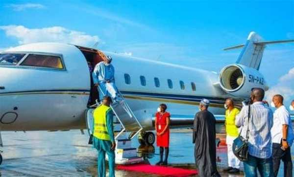 billionaire-arthur-ezes-private-jet-first-to-land-enugu-airport