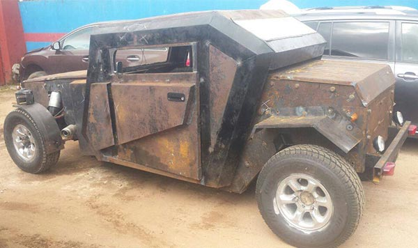 """This Made-In-Nigeria """"IYI Combatant"""" Car Looks Like A Batmobile"""