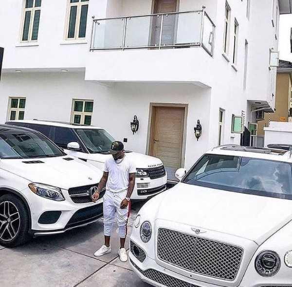 davido-flaunts-mansion-all-white-luxury-cars