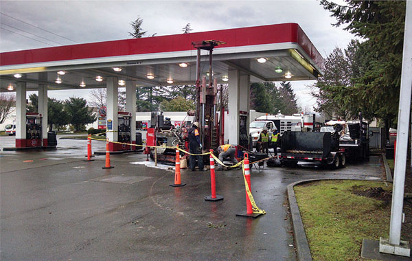 Filling Stations Dispensing Gas In Cars