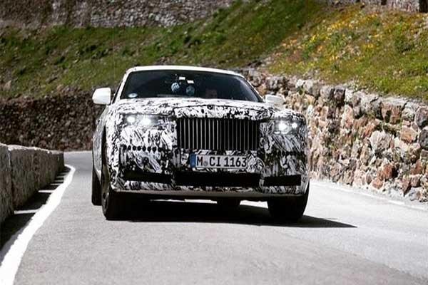 2022 Rolls Royce Ghost Spy Photos Seen Cruising