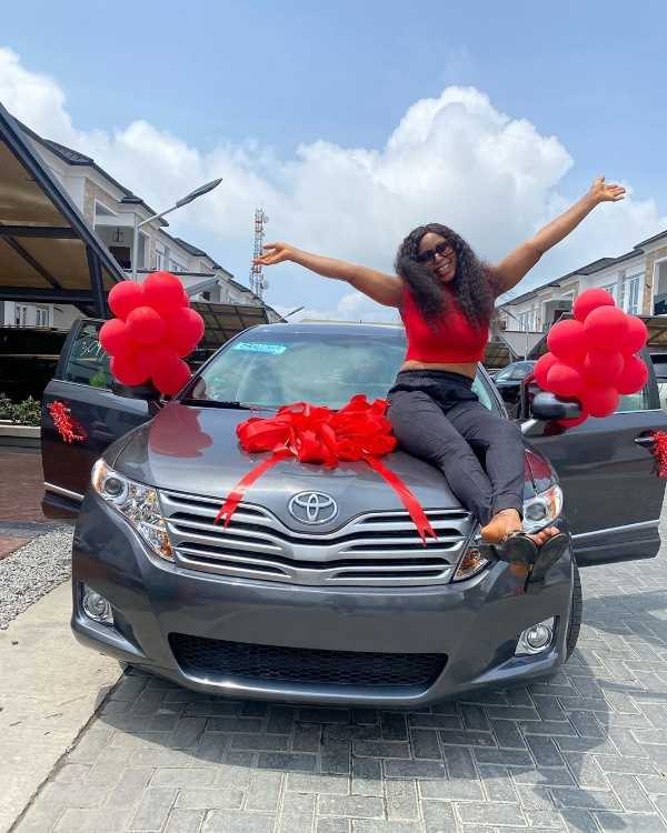 mercy-eke-gifts-sister-a-toyota-venza-as-birthday-gift