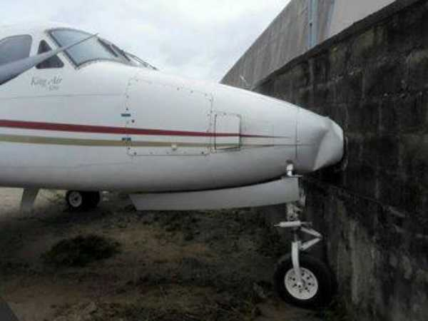 mobil-oil-nigerias-jet-rams-into-fence-at-lagos-airport-after-brake-failure