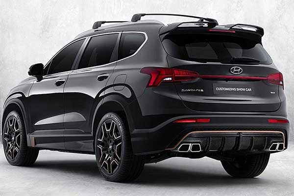 N Performance Parts Fitted To The 2021 Hyundai Santa-Fe
