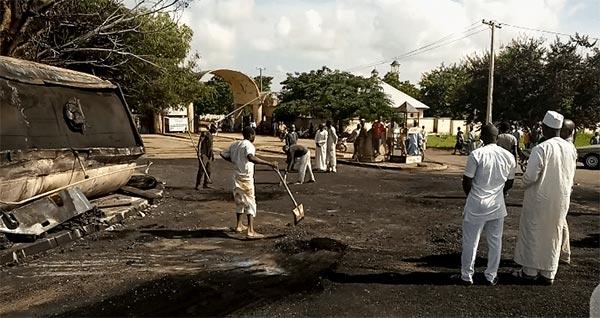 Three Injured As Fuel Tanker Falls, Explodes In Bauchi
