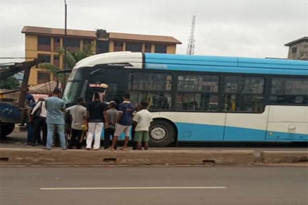 BRT Crushed Two Lagosians To Death Between Iyana Ipaja And Ile Epo Road