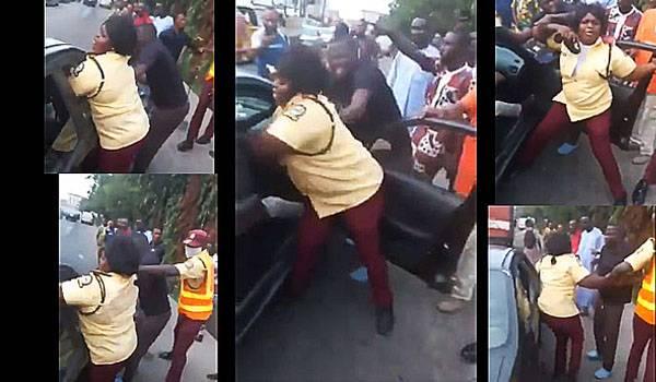 Female LASTMA fight motorist autojosh