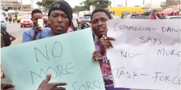 Drivers protest