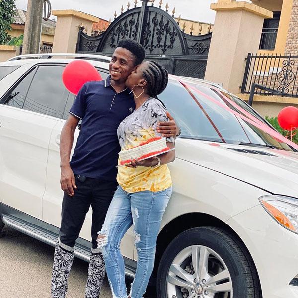 Comedian and skit maker, Ayodele Aguda aka MC Shem gifts wife a Mercedes-Benz ML350 autojosh