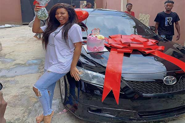 Nollywood Actress Nkechi Blessing Gifts Her Sister A Car