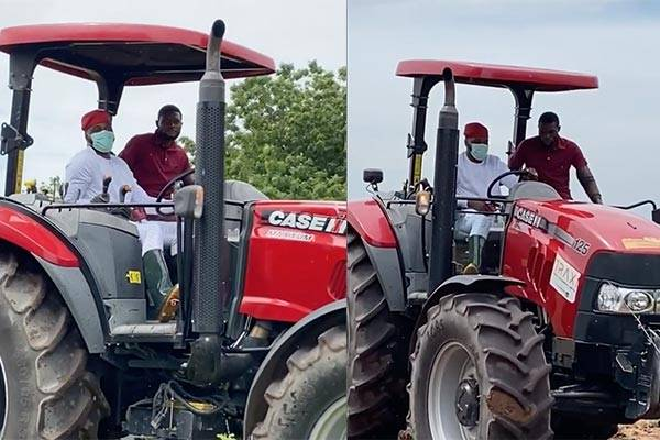 Debola Williams Spotted Driving A Tractor As He Encourages Agribusiness