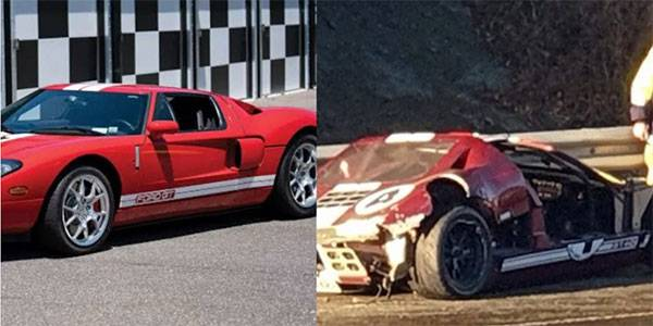 Man Crashes His N95m Ford GT40 As He Tried To Impress Daughter's New Boyfriend