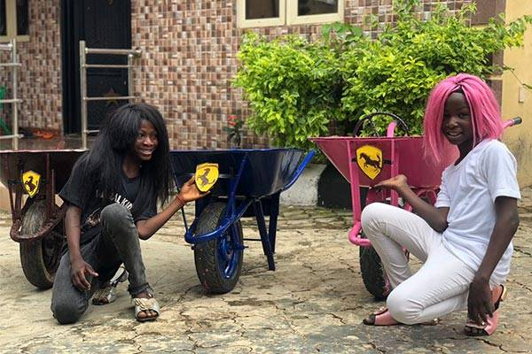 Instagram Sensation: Ikorodu Bois Mimic DJ Cuppy And Sisters' Newly Acquired Ferrari Portofino