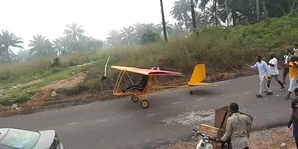 Nigerian Teenager, Kensmith Rechiel Builds Single-Seater Aircraft
