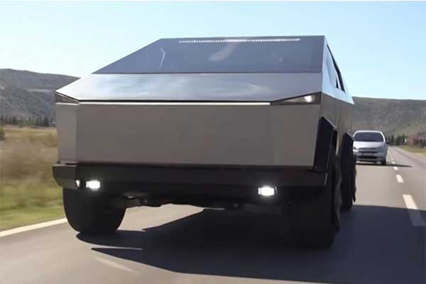 Wow, This Tesla Cybertruck Is Actually A Ford F150 Raptor