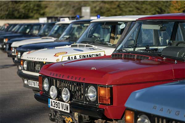 Range Rover Celebrates 50 Years With A Parade Of Old And New Models