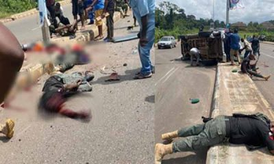 Ugly Photos From A Toyota Hilux Accident That Killed About 5 Police Officers In Akure On Tuesday-Autojosh