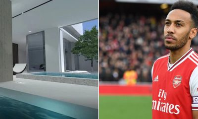 Inside Aubameyang's New Luxurious Mansion That Has Underground Car Park, Indoor Pool And Many Outstanding Features (Photos)-autojosh