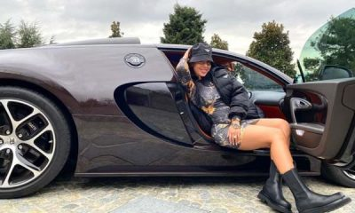 Georgina Rodriguez Looks Stunning As She Poses In Ronaldo's N856million Bugatti Veyron-Autojosh