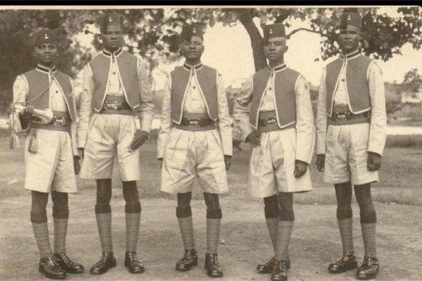 Throwback: Check Out The Nigerian Police Force In The 1930's When Protection Of Lives And Property Was Their Priority (PHOTOS)