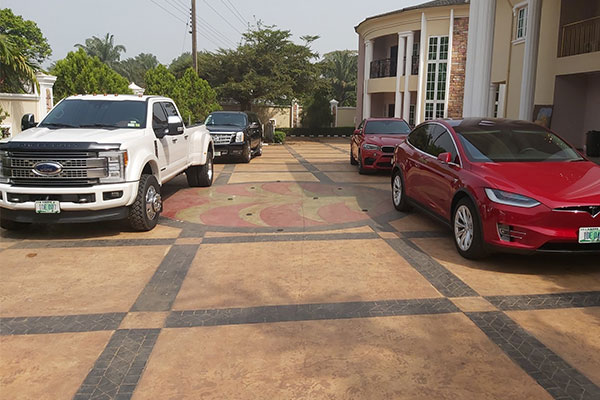 More Photos Of The Tesla Model X That Was Spotted In Anambra State