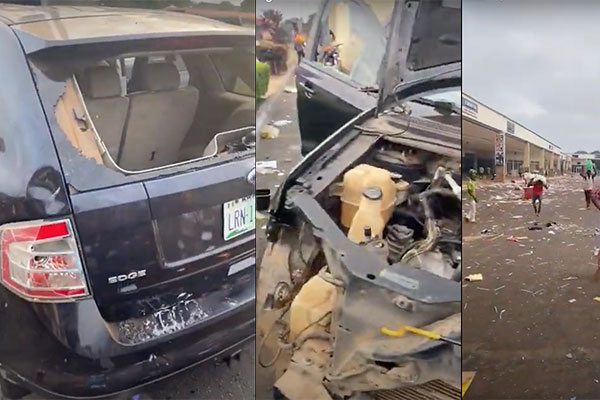See How Hoodlums Vandalized Man's Ford Edge In Ilorin