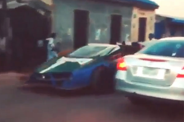 See How Onlookers Cheered As Young Northerner Repainted His Newly Got Lamborghini, Drove With Excitement (PHOTOS/VIDEO)