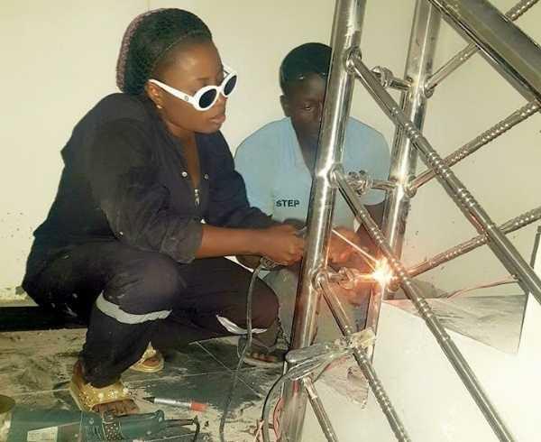 bayelsa-state-female-welder-faith-lesley-buys-lexus-suv-to-celebrate-her-birthday