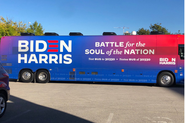 Biden/Harris campaign bus autojosh