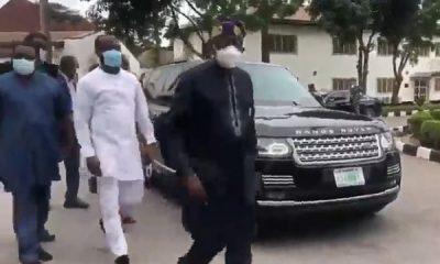 Bola Tinubu arrived in bulletproof Range Rover Sentinel SUV as he visits Gov Sanwo-Olu-autojosh
