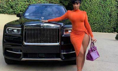 Cardi B shows off her new custom Rolls-Royce Cullinan