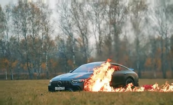 Disappointed Blogger Destroys Mercedes-AMG GT 63 S By Setting It Ablaze-autojosh